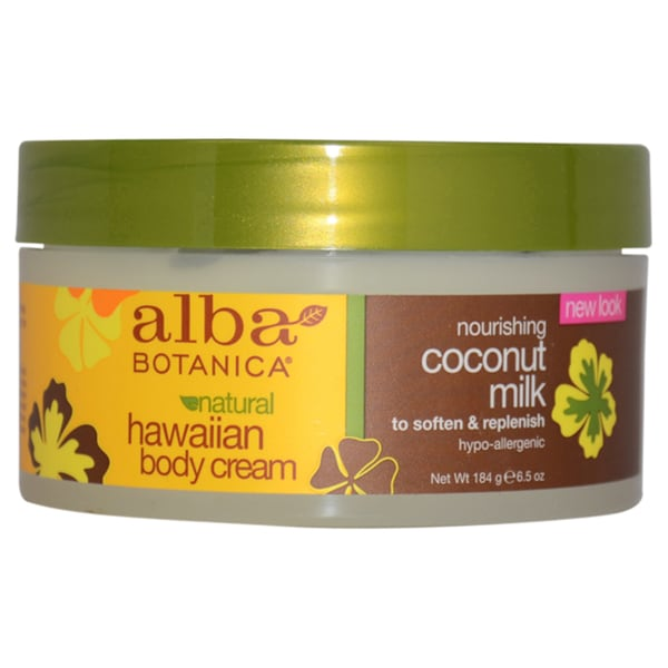 Alba Botanica Hawaiian Coconut Milk 6.5-ounce Nourishing Body Cream