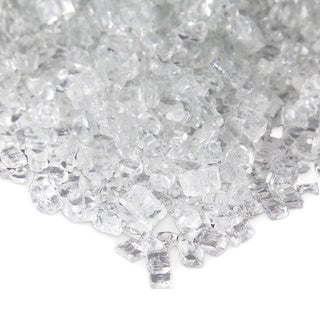 Reflective Ice Clear Colored Fire Glass