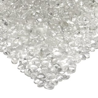 Reflective Ice Clear Colored Fire Glass Pebbles