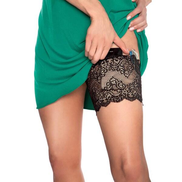 Black GirlyGoGarter Lace Pocket Garter