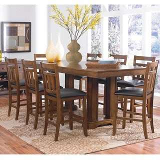 Kai Oak Brown 9-piece Counter Height Extending Dining Set
