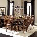 TRIBECCA HOME Kai 9-piece Brown Oak Extending Dining Set