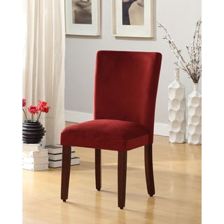 Rich Berry Merlot Velvet Parsons Dining Chair (Set of 2)