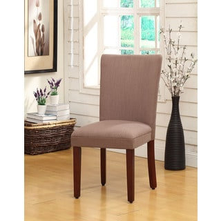 Khaki Tan Textured Parsons Dining Chair (Set of 2)