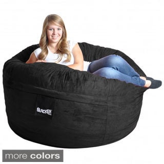 Slacker Sack 5-foot Round Microfiber Suede Large Foam Bean Bag Chair Cover