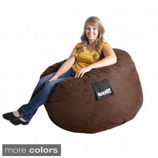 Slacker Sack 4-foot Round Microfiber Suede Large Foam Bean Bag Chair Cover