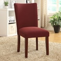 Dark Burgundy Cordovan Textured Parson Dining Chair (Set of 2)