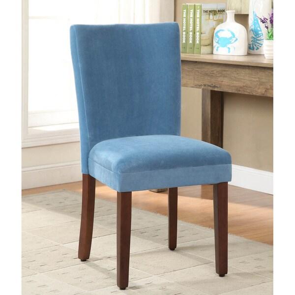 HomePop Teal Velvet Parson Dining Chair (Set of 2)