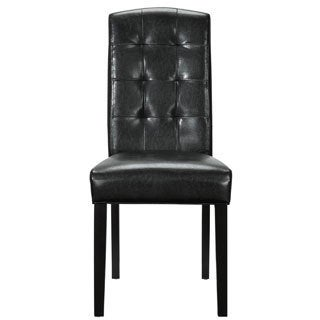 Black Vinyl Perdure Dining Chair