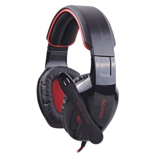 SADES SA-902 Black/Red PC Gaming Headset with Microphone