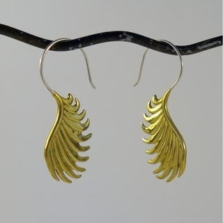 Wing-design Tribal Fusion Earrings (Indonesia)