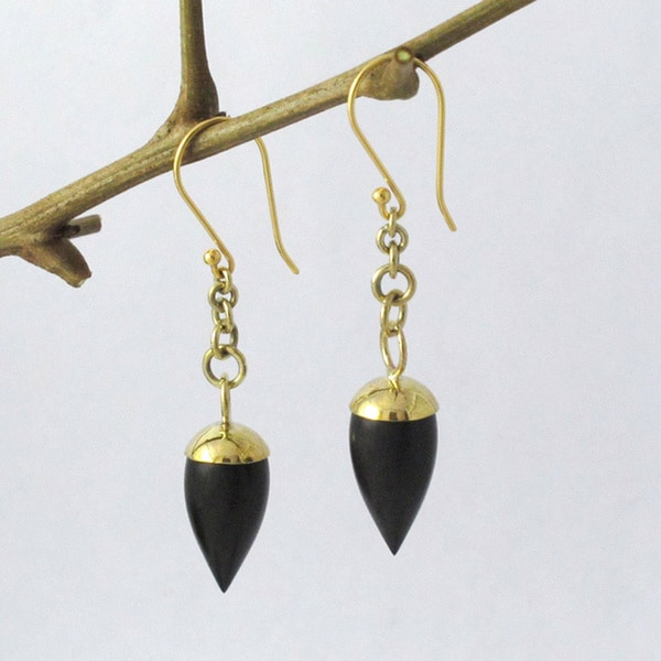 Golden Pendulum Earrings (Indonesia)
