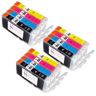 Sophia Global Compatible Ink Cartridge Replacement for Canon CLI-251XL (3 Small Black, 3 Cyan, 3 Magenta, 3 Yellow)
