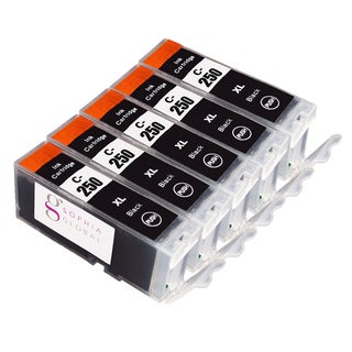 Sophia Global Compatible Ink Cartridge Replacement for Canon PGI-250XL (5 Large Black)
