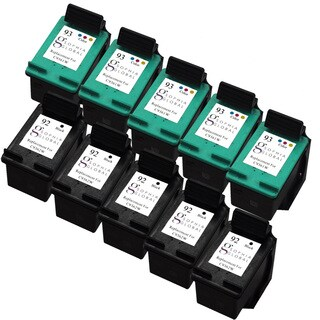 Sophia Global Remanufactured Ink Cartridge Replacement for HP 92 (5 Black, 5 Color)