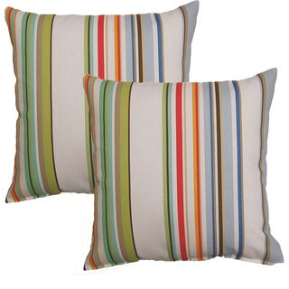 Lucky Stripe 17-in Throw Pillows (Set of 2)