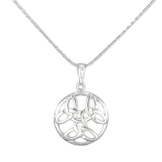 Jewelry by Dawn Round Celtic Knot Sterling Silver Necklace