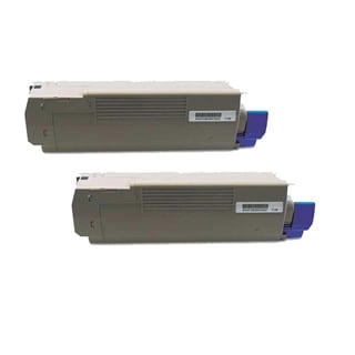 Okidata C610 (44315304) Black Compatible Laser Toner Cartridge (Pack of 2)