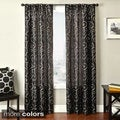 Bay Scroll Embroidered Rod Pocket Sheer Curtain Panel