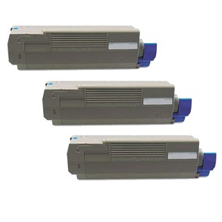 Okidata C610 (44315303) Cyan Compatible Laser Toner Cartridge (Pack of 3)