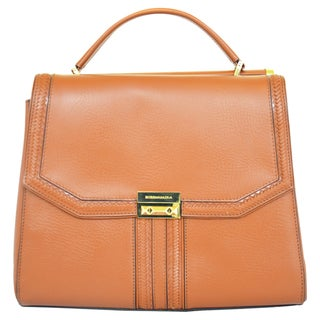 BCBGeneration 'Allie' Small Cognac Leather Satchel