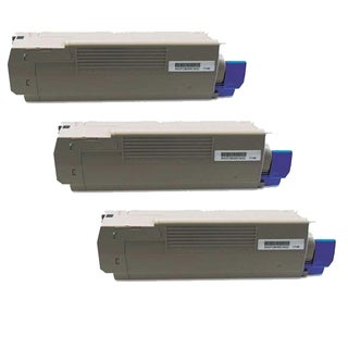 Okidata C610 (44315304) Black Compatible Laser Toner Cartridge (Pack of 3)