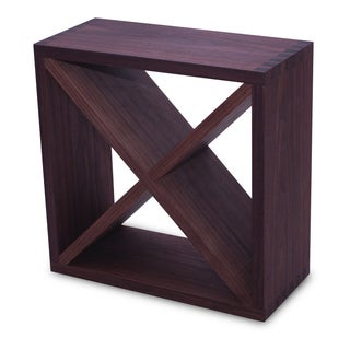 Recherche Walnut Wine Storage/Rack Cube
