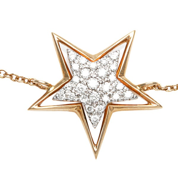 Diamonds for a Cure 14k Yellow Gold 1/8ct TDW Star Bracelet (H-I, SI1-SI2)