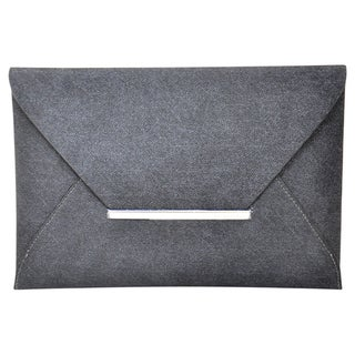 BCBGeneration 'Harlow' Black Denim Envelope Clutch