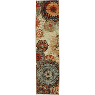 Caravan Medallion Multi Nylon Rug (2' x 8')