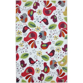 Kids Birds Multi Nylon Rug (8' x 10')