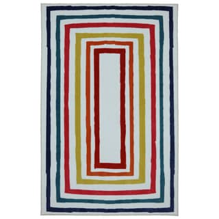 Kids Fun Borders Multi Nylon Rug (5' x 8')