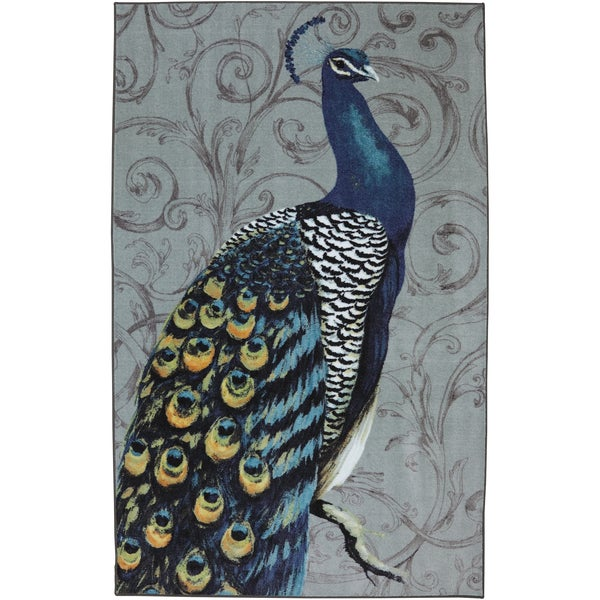 Peacock Feathers Multi Nylon Rug (8' x 10')