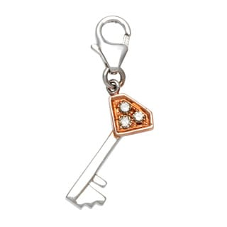 Diamonds for a Cure 14k White Gold Key Charm