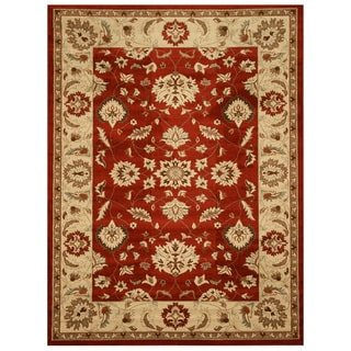 EORC Red Traditional Allover Rug (5'3 x 7'3)