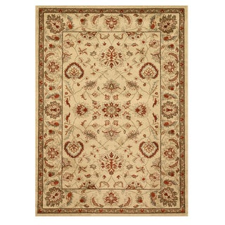 EORC Ivory Traditional Allover Rug (5'3 x 7'3)