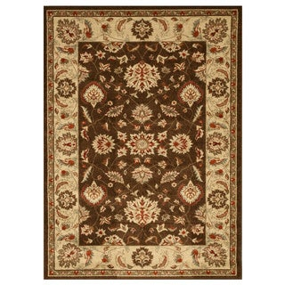 EORC Brown Traditional Allover Rug (5'3 x 7'3)