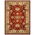 EORC Dark Red Traditional Allover Rug (7'10 x 10'6)