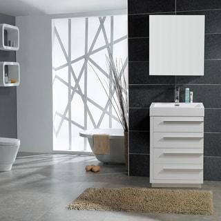 White bathroom vanities overstock shopping single - Best prices for bathroom vanities ...