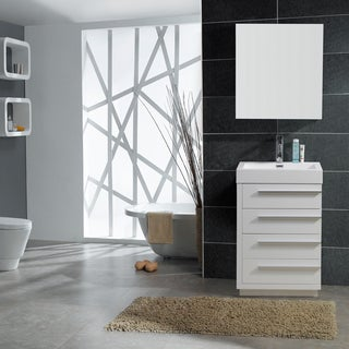 Virtu USA Bailey 24-inch Single-sink Bathroom Vanity Set