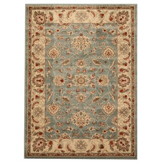 EORC Light Blue Traditional Allover Rug (5'3 x 7'3)