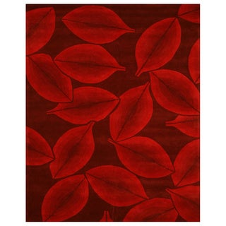 Hand-tufted Wool Red Madelyn Rug (7'9 x 9'9)