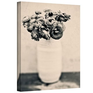 Elena Ray 'Black And White Ranunculus' Gallery-wrapped Canvas Art