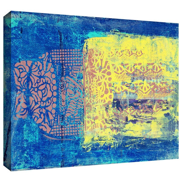 Elena Ray 'Blue With Stencils' Gallery-wrapped Canvas Art 12285766