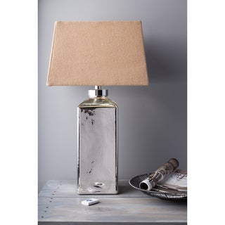 1-light Mercury Glass/ Burlap Table Lamp