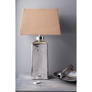 1-light Mercury Glass/ Burlap Table Lamp