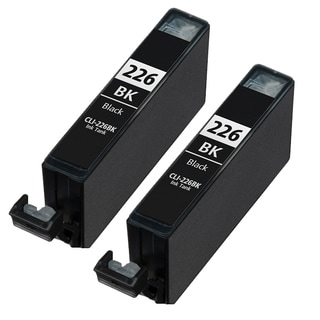 Canon CLI226 Dye Black Compatible Inkjet Cartridge (Remanufactured) (Pack of 2)