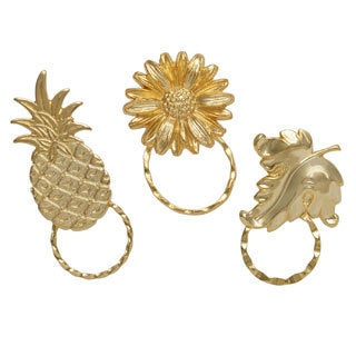 SPEC Goldplated Leaf/ Pineapple and Daisy Spectacle Pins (Set of 3)