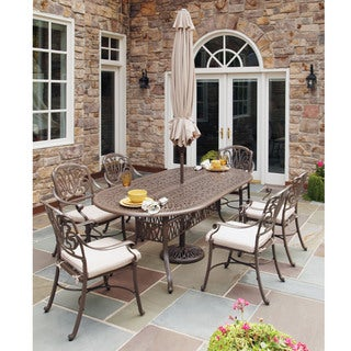 Home Styles Floral Blossom Taupe 7-piece Dining Set