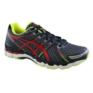 Asics Men's 'Gel Kayano 19' Black/ Red Running Shoes